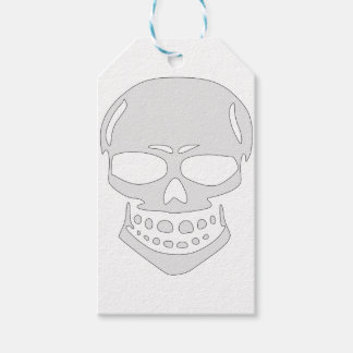 Angry Skull Face Gift Tags