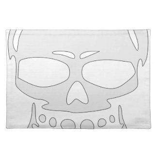Angry Skull Face Placemat
