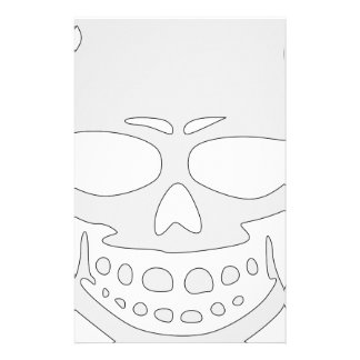 Angry Skull Face Stationery