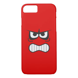 Angry Smiley Face Funny iPhone 7 Case