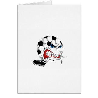 Angry Soccer Ball Card