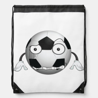 Angry Soccer Ball Drawstring Backpack
