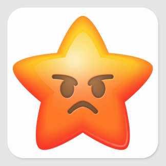 Angry Star Emoji Stickers