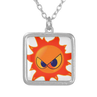 Angry Sun Silver Plated Necklace