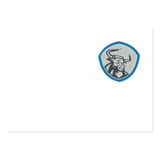 Angry Texas Longhorn Bull Shield Business Card