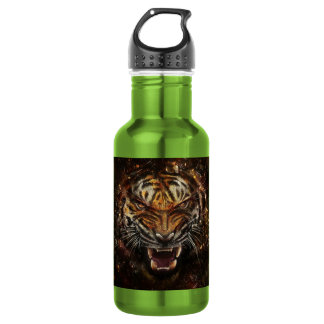 Angry Tiger Breaking Glass Yelow 532 Ml Water Bottle