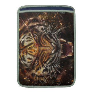 Angry Tiger Breaking Glass Yelow Sleeves For MacBook Air