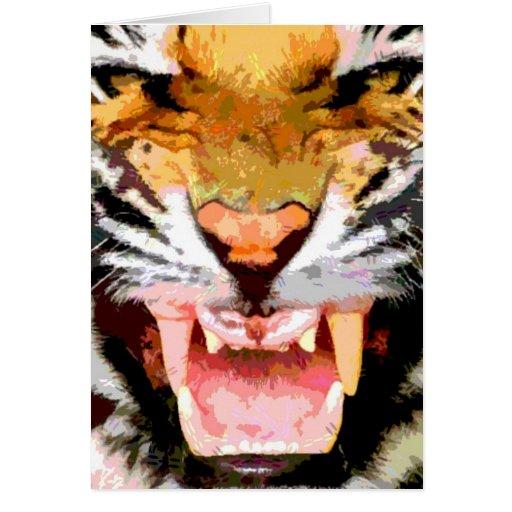 Angry Tiger - Eyes of Tiger Greeting Card