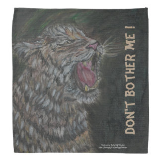 Angry tiger scare you away/show a yawning face? bandana