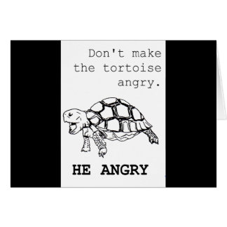 Angry Tortoise Drawing Greeting Card