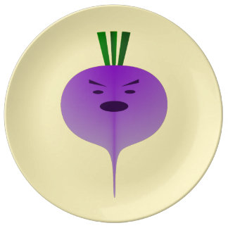 Angry Turnip by Kenneth Yoncich Porcelain Plate