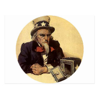 ANGRY UNCLE SAM POSTCARD
