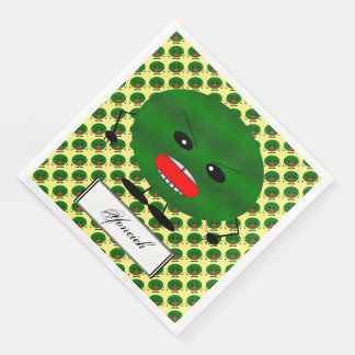 Angry Watermelon by Kenneth Yoncich Disposable Napkin