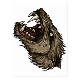 Angry Werewolf Postcard