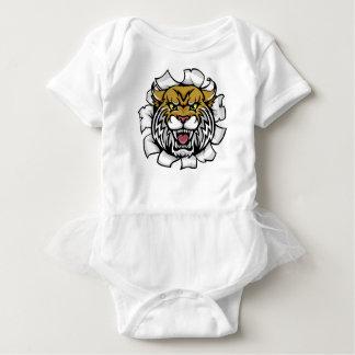 Angry Wildcat Background Breakthrough Baby Bodysuit
