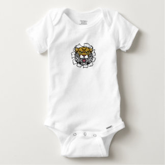 Angry Wildcat Background Breakthrough Baby Onesie