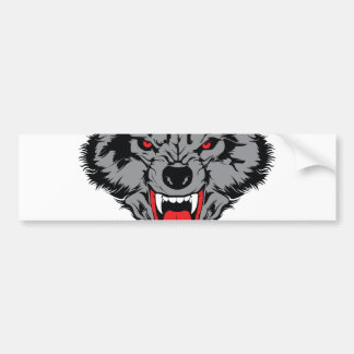 Angry Wolf Bumper Sticker