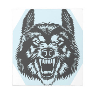 Angry wolf notepad