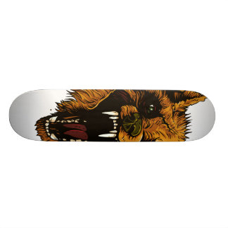 Angry Wolf Skate 18.1 Cm Old School Skateboard Deck