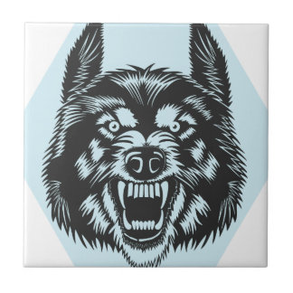 Angry wolf tile