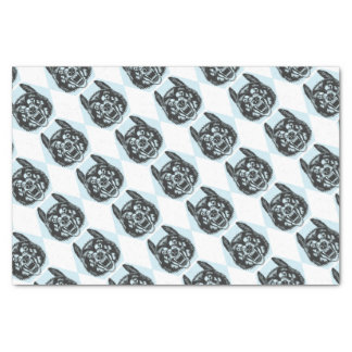Angry wolf tissue paper