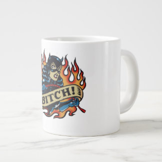 Angry Woman White Coffee Mug