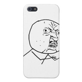 Angry Y U No face iPhone 5/5S Covers