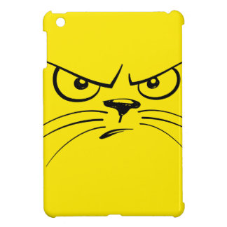 Angry Yellow Kitty Face iPad Mini Cover