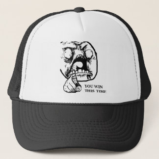 Angry You Win This Time Face Trucker Hat