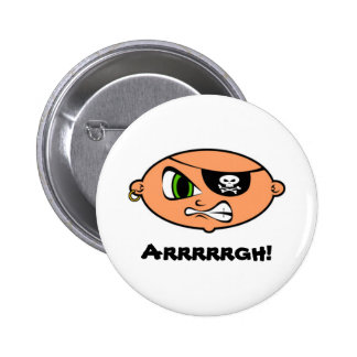 Angry Young Pirate Button