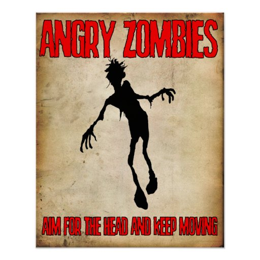 """'Angry Zombies"""" poster Angry Johnny"""
