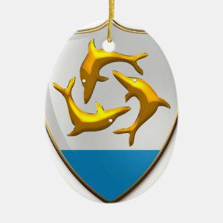 Anguilla Ceramic Ornament