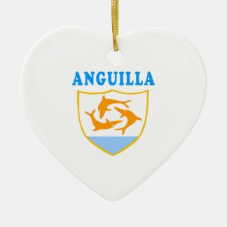 Anguilla Coat Of Arms Designs Ceramic Ornament