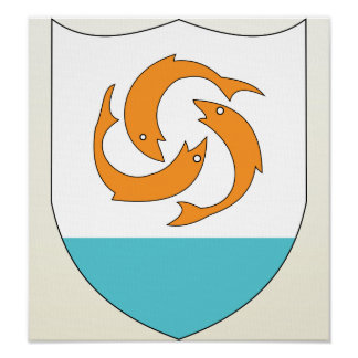Anguilla Coat of Arms detail Print