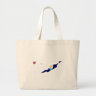 Anguilla Flag Map full size Large Tote Bag