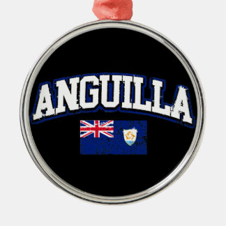 Anguilla Flag Metal Ornament
