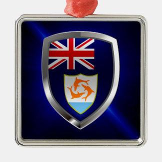 Anguilla Mettalic Emblem Metal Ornament