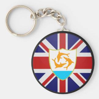 Anguilla quality Flag Circle Key Ring