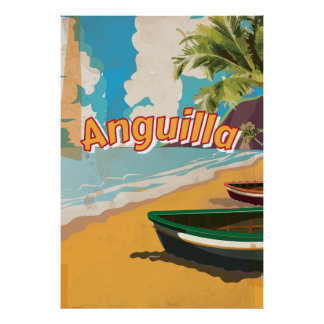 Anguilla Vintage vacation Poster