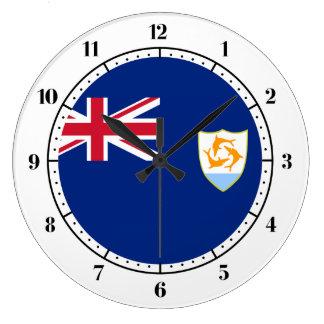 Anguillian flag large clock