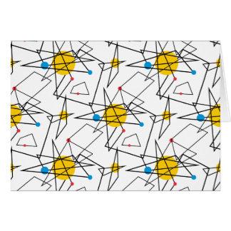 Angular Geometric Retro Pattern Card