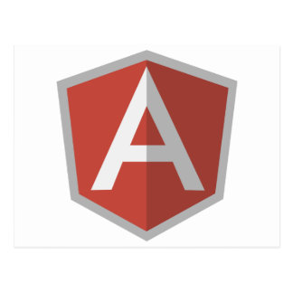 AngularJS Shield Logo Postcard