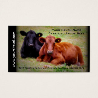 Angus Cattle Photo for  Beef Ranch or Farm Business Card