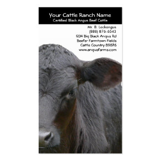Angus Cow  Closeup Photo for Farmers Pack Of Standard Business Cards
