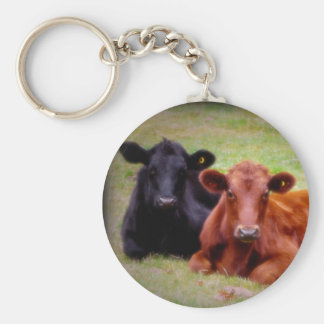 Angus Love - Pair of Cattle Side by Side Key Ring