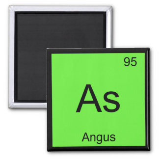 Angus Name Chemistry Element Periodic Table Square Magnet