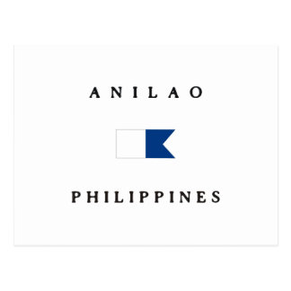 Anilao Philippines Alpha Dive Flag Post Cards
