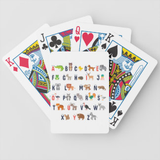 Animal ABCs - Alphabet Bicycle Playing Cards
