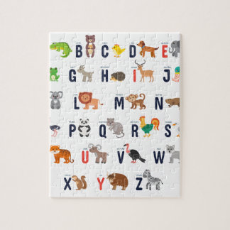 Animal ABCs - Alphabet Jigsaw Puzzle