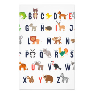 Animal ABCs - Alphabet Stationery Paper